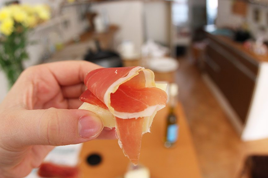 Manchego and serrano ham in Amsterdam