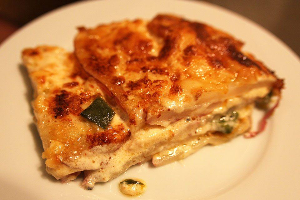 Garlicky poblano potato gratin recipe | Nomad with Cookies