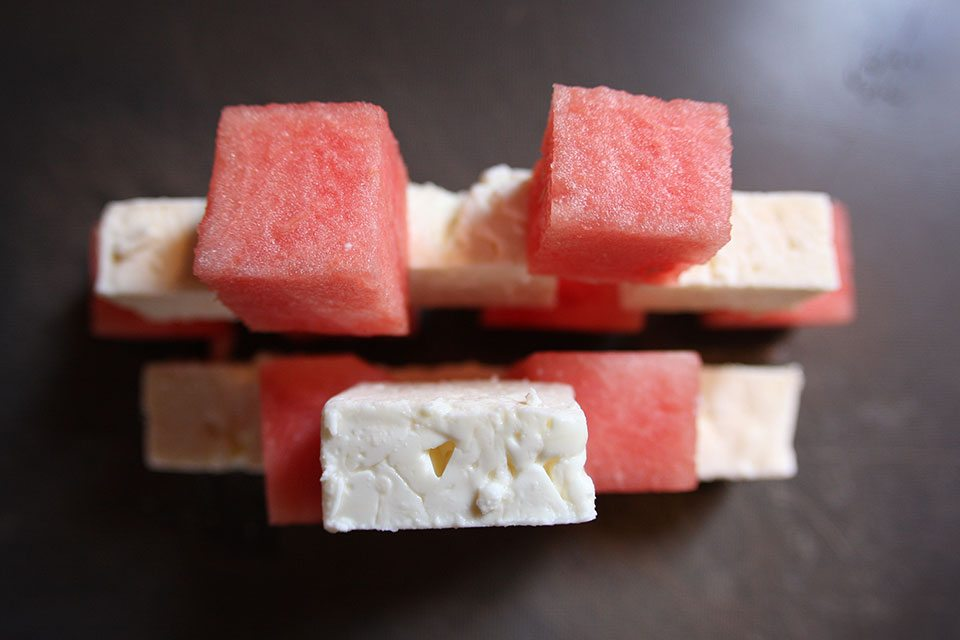 Watermelon and feta | Nomad with Cookies