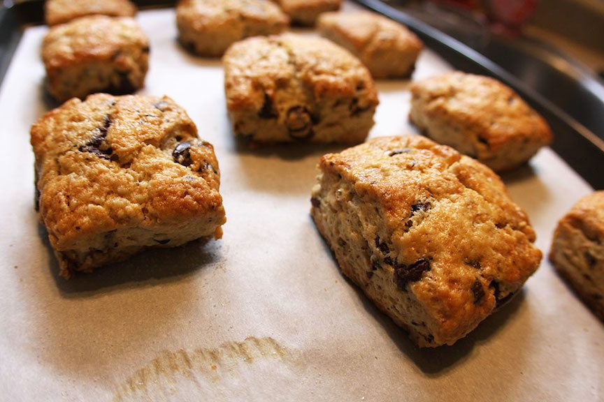 Chocolate walnut scone recipe - Nomad with Cookies