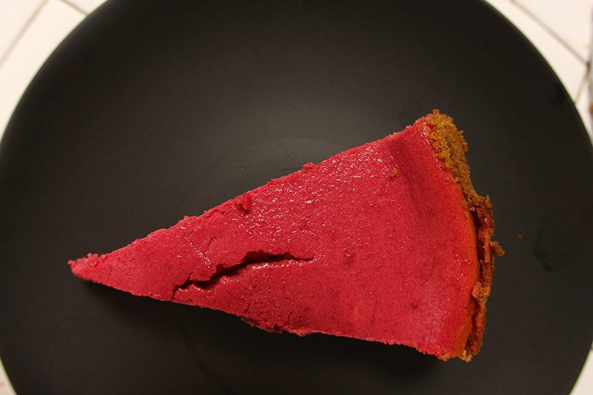 beet and goat cheese cheesecake | nomad with cookies