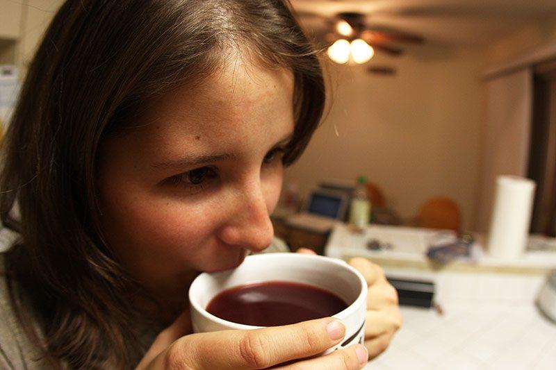 Sara from Texas enjoying some hot gluhwein
