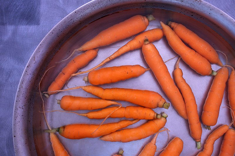 Simmer the carrots until tender