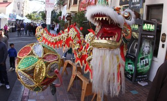 Dragon at Vietnamese New Year in San Diego