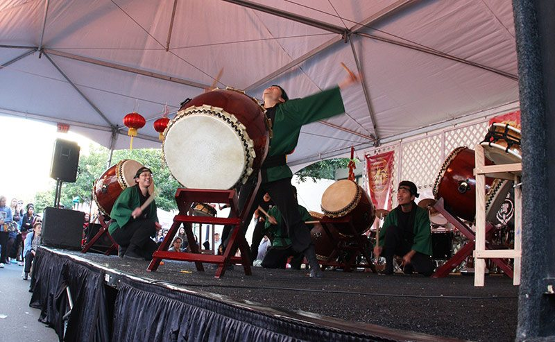 Drummer at Lunar New Year in San Diego