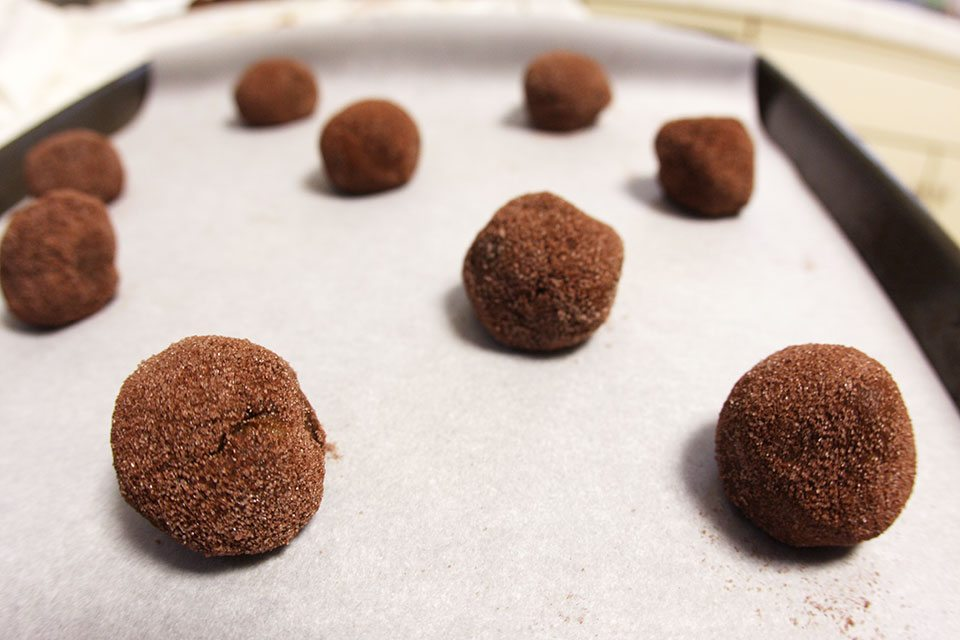 Cocoa-crusted gingersnaps recipe | Nomad with Cookies