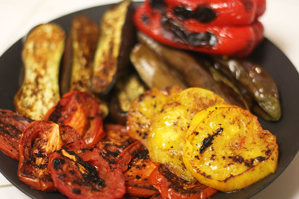 Fire roasted vegetables