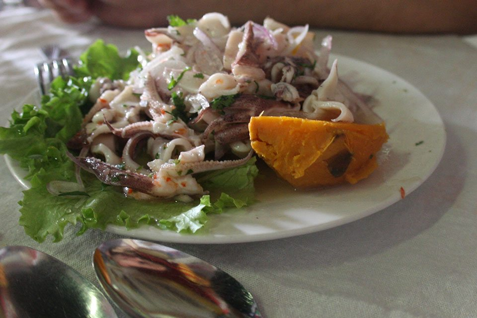 Octopus ceviche in Lima, Peru | Nomad with Cookies