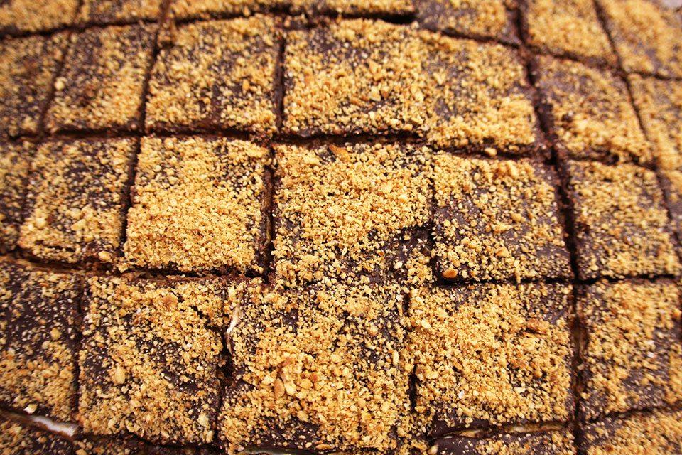 Toffee Hazelnut Matza Crunch