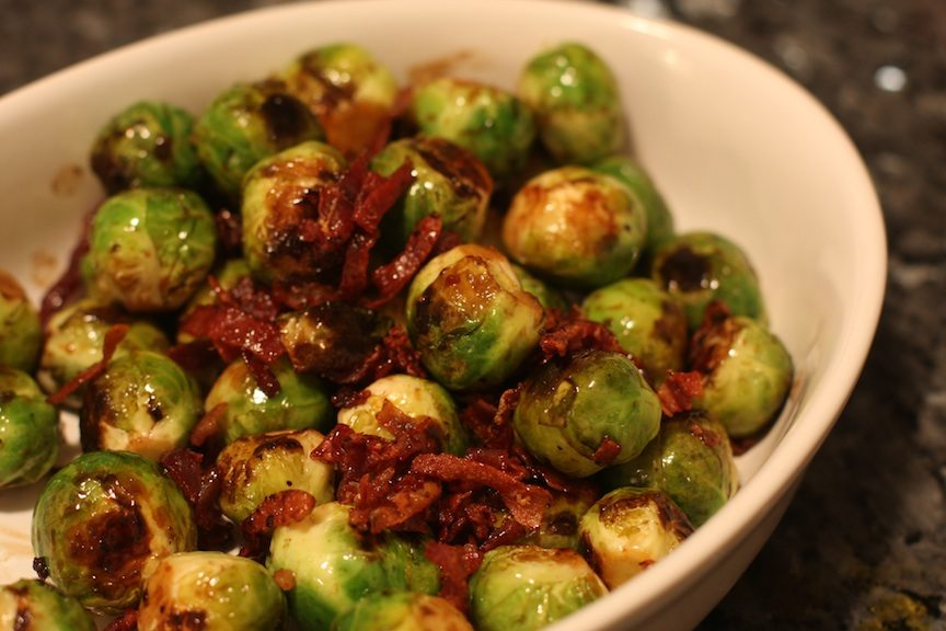 lemon brussel sprouts with crispy prosciutto | nomad with ...