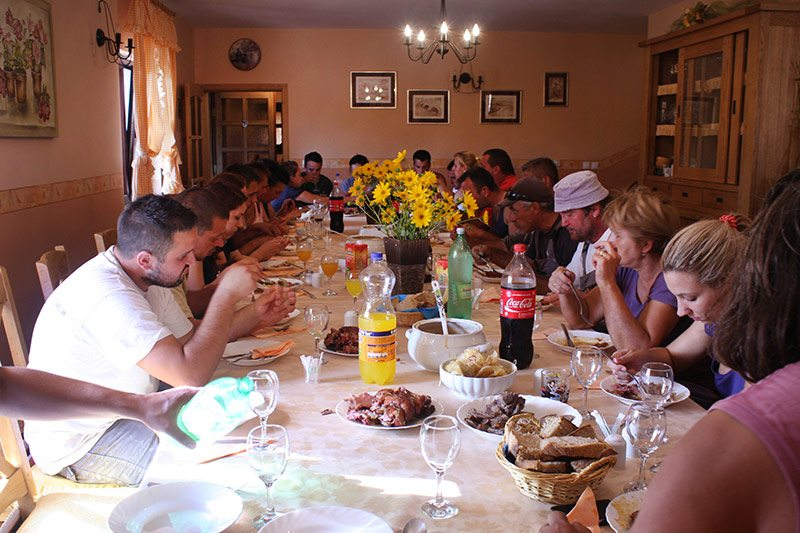 Grape harvest lunch with the Krolo family
