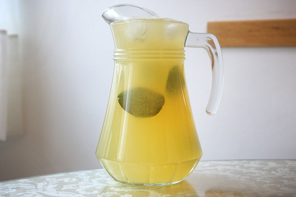 Pitcher of Kaffir Lime Lemonade