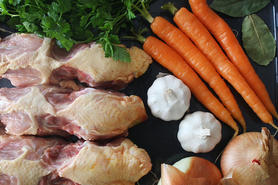 Roasted chicken stock recipe