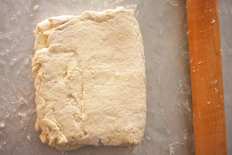 Roll out Texas biscuit dough
